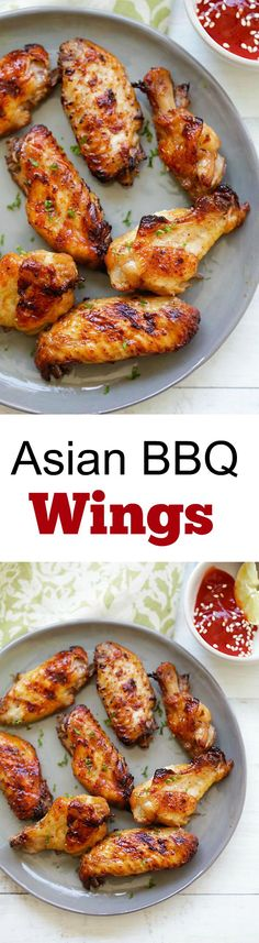 BBQ Wings – Amazing chicken wings marinated with ginger garlic soy sauce. Asian BBQ Wings – Amazing chicken wings marinated with ginger garlic soy sauce. , Asian BBQ Wings – Amazing chicken wings marinated with ginger garlic soy sauce. Easy Delicious Recipes, Yummy Food, Healthy Recipes, Tasty, Grilling Recipes, Cooking Recipes, Asian Bbq, Bbq Wings, Chicken Wing Recipes
