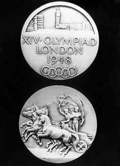 London Olympics medal from 1948 United Kingdom