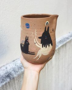 Illustration on ceramics - by Miriam Brugmann
