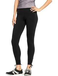 Skiing: Women's Active by Old Navy Compression Cinch-Tie Leggings | Old Navy