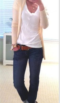 Adorable! Very casual yet still very put together. Add a chic bag and a cute shoe and your set!