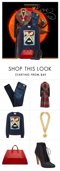 """""""Fall flavor.."""" by kiwipeach ❤ liked on Polyvore featuring American Eagle Outfitters, Delpozo, Ground-Zero, Versace, Vince Camuto, Boots and falljacket"""