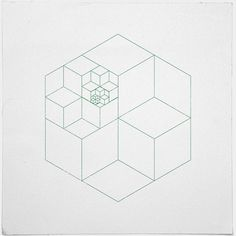 #335 All those cubes – A new minimal geometric composition each day