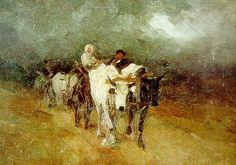 In amurg Care cu boi - Nicolae Grigorescu