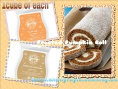 Frosted pumpkin roll Scentsy #scentsy fall recipes