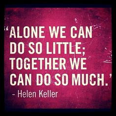 Yesss we can !! Positive influence around people can gather us together and make a change.