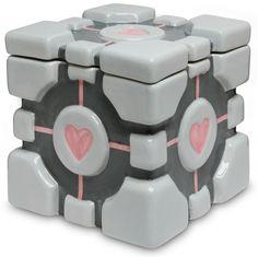 Portal Companion Cube Cookie Jar :: ThinkGeek