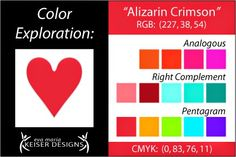 Eva Maria Keiser Designs: Color Exploration -  Alizarin Crimson
