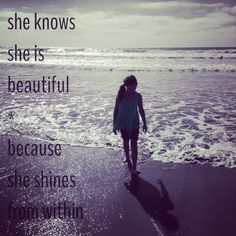 She shines from within