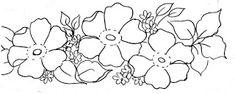 Riscos Desenhos Para Pintura em Tecido Flores - Como Fazer
