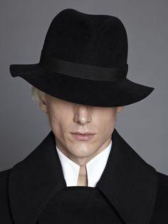 black hat man