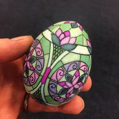 Bored airport photo. One egg complete and one egg started. Back at it! #PATG #pysanky #stainedglassart #eggart @jenniferekwong @picsanky
