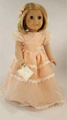 18 Doll Clothes 7 Piece Pink Ball Gown w/ by ApparelByCarol
