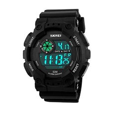Skmei Watch Waterproof Men LED Digital Military Watch Dive Swim Dress Outdoor Sports WristwatchesGrey -- Click image for more details.Note:It is affiliate link to Amazon.