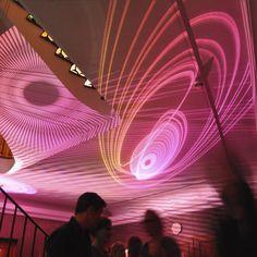 Light Artist Peter Schildwächter: Light Art Installation for International Filmschool, Cologne, 10th anniversary celebration. #LightArt #ProjectionArt #Illumination #LightArtist #Lichtinstallation #Lichtkunst #Lichtkünstler Light Art Installation, Lights Artist, Illumination Art, Light Architecture, 10 Anniversary, More Photos, Corporate Events, Cologne, Celebration