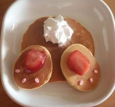 Easter bunny pancake idea
