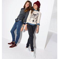 Jeans skinny destroy 10-16 anos R Teens | La Redoute