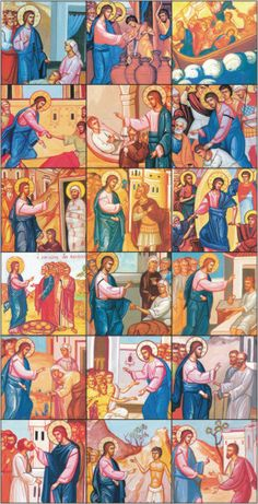 Miracles of Jesus Icon Cards for children
