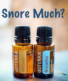 Essential oil for snoring