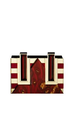 Elettra Clutch in Burgundy and Gold by Rauwolf - Fall-Winter 2014 (=)