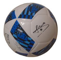 Mauro Diaz Autographed Adidas MLS Logo White Soccer Ball, Proof Photo. Mauro Diaz Signed Adidas MLS Logo Soccer Ball, FC Dallas Toros, Argentina, Proof Photo  This is a brand-new Mauro Diaz autographed Adidas MLS logo white soccer ball.  The soccer ball is size 5. Mauro signed the soccer ball in black sharpie. Check out the photo of Mauro signing for us. ** Proof photo is included for free with purchase. Please click on images to enlarge. Please browse our website for additional MLS and…