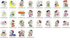 Coleção De Bordados Computadorizados Turma Da Mônica Baby - R$ 12,90 no MercadoLivre