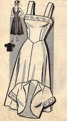 """Vintage 1950s Sewing Pattern The American Weekly Strappy Dress & Bolero Bust 40"""""""