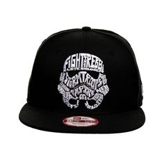 New Era Star Wars Word Storm Trooper Snapback Hat (Black)