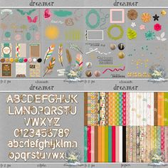 Dreamn4ever Designs: October Daily Download - Day 2 Scrapbooking Freebies, Digital Scrapbooking, Scrapbook Kit, Photoshop, Cover Pages, The Dreamers, Free Printables, October, Paper Crafts