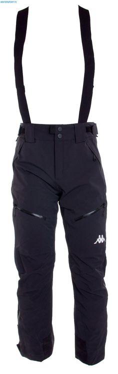 Kappa Men 6Cento 622 Full Side Zip Pant – Black