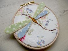 Dragonfly Hand Embroidered Hoop Art On Cath Kidston by DandyLane, £17.00