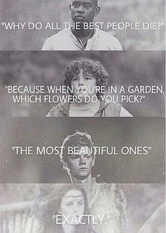 Sam Cortland , sorcha, nehemia,,finnick, prim(add whoever you think deserves this when you repin)
