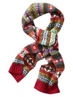 Gap fair isle scarf