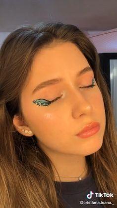 Daily Eye Makeup, Makeup Eye Looks, Creative Makeup Looks, Eye Makeup Art, Hair Makeup, Makeup Eyes, Anime Eye Makeup, Edgy Makeup, Disney Eye Makeup
