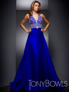 c7dcb0e16e Chiffon halter gown with bead and crystal bodice and wide waist band with  full a-