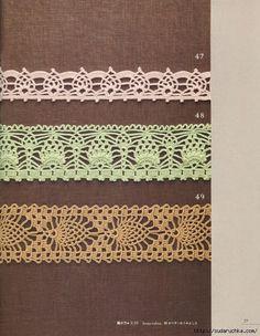 Crochet: Edging ~ tons of pineapple edging..free diagrams