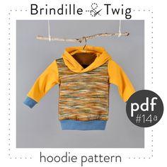 Baby Hoodie pdf pattern, photo tutorial, sizes.... 0-3, 3-6, 6-9, 9-12 months -Pattern 14a