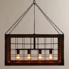 Rectangular Farmhouse Pendant Lamp | World Market