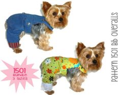 Dog Jeans Pattern 1506 Bundle 3 Sizes Dog Clothes Pattern