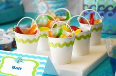 bucket of bait- cute idea for a kids fishing party!