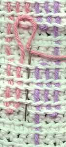 How To Do Swedish Weaving On A Crocheted Background
