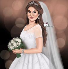 Arab Wedding, Wedding Couples, Mother Daughter Art, Sarra Art, Girly M, Girly Pictures, Female Art, Cute Art, Art Girl