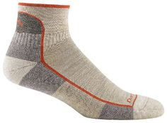 Darn Tough Vermont Men's Merino Wool 1/4 Cushion Socks, Oatmeal, Large - Made in Vermont We live and work in Vermont. Our backyard is the perfect testing ground to make the finest Premium All Weather Performance Socks. We ski, snowboard, hike, bike and run in the most unforgiving climate in the lower 48. It is under these conditions that we design, test and manufactur...