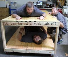 I needed a large rolling work table for my shop. I built this simple version with a shelf below. Fast and easy to build. thanks for watching View on YouTube