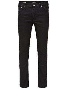 CORE by JACK & JONES - Skinny-Fit-Jeans von CORE - Low rise - Schmale Oberschenkel- und Knieform - Enger Beinabschluss - Hosenschlitz mit Reißverschluss - Klassisches 5-Taschen-Modell - Stretch-Qualität  Diese Ben Skinny-Fit-Jeans ist durch und durch schwarz und cool und hat einen schlichten, leicht tragbaren Look. Diese Jeans mit Reißverschluss wurde mit einer speziellen schwarzen Beschichtung...
