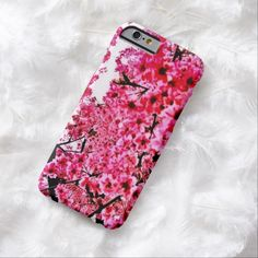 Cherry Blossoms Airbrush Art iPhone 6, Barely There Case by BOLO Designs.