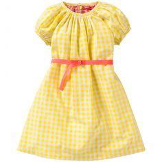 348c919a8319d0 Groen   geel   wit geruite jurk van Oilily (model Doris). De jurk