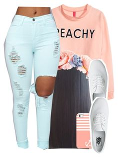 """""""peach perfect"""" by jchristina ❤ liked on Polyvore featuring interior, interiors, interior design, home, home decor, interior decorating, H&M, Casetify and Vans"""