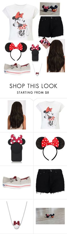 """""""Minnie Mouse-this is a collaboration that me and @kayla-ann-ryan did together!"""" by mhrainbows ❤ liked on Polyvore featuring beauty, Miss Selfridge, Kate Spade, Keds, Boohoo and Disney"""
