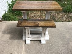 Farmhouse Furniture, Outdoor Furniture, Outdoor Decor, End Tables, Stool, Color, Home Decor, Mesas, Decoration Home